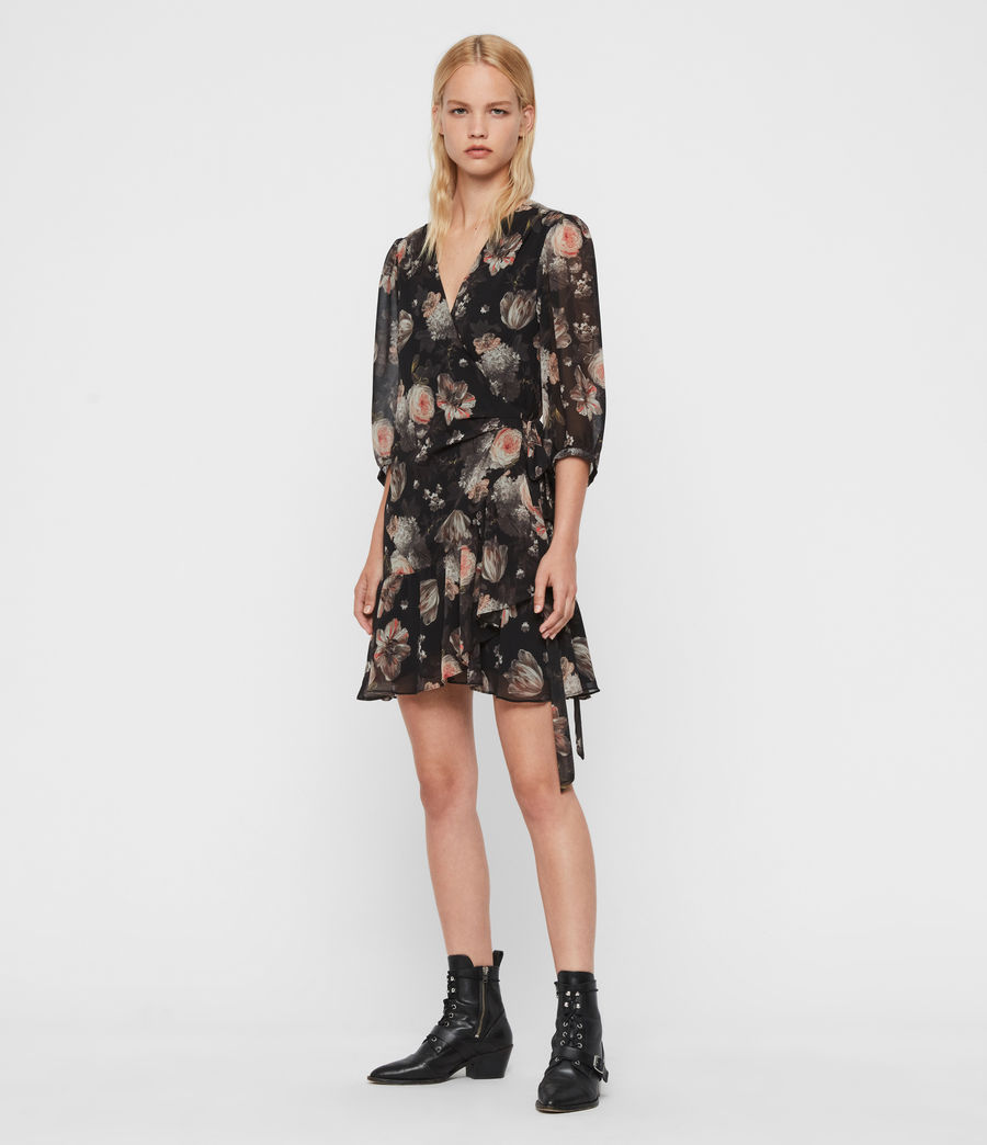 Women's Jade Eden Dress (black) - Image 3