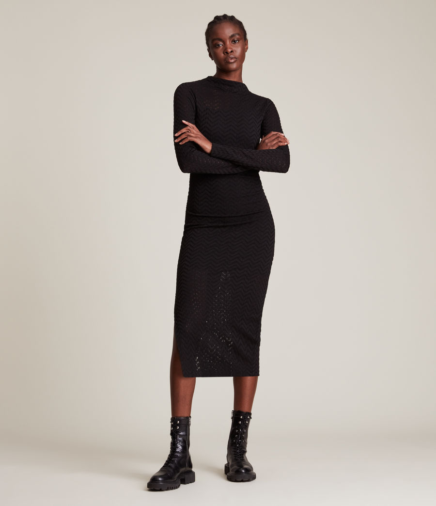 Women's Rae Lace Francesco Dress (black) - Image 1