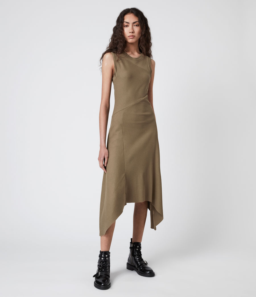 Women's Gia Dress (khaki_green) - Image 1