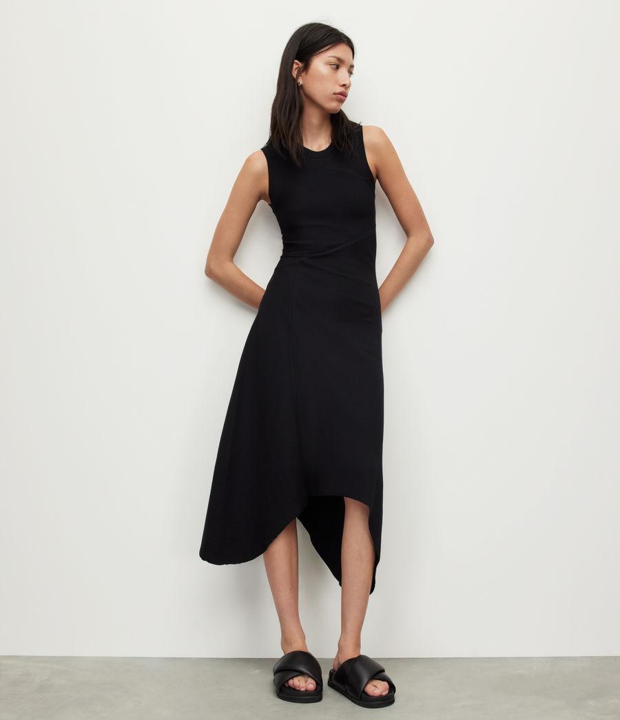 Womens Gia Dress (black) - Image 4