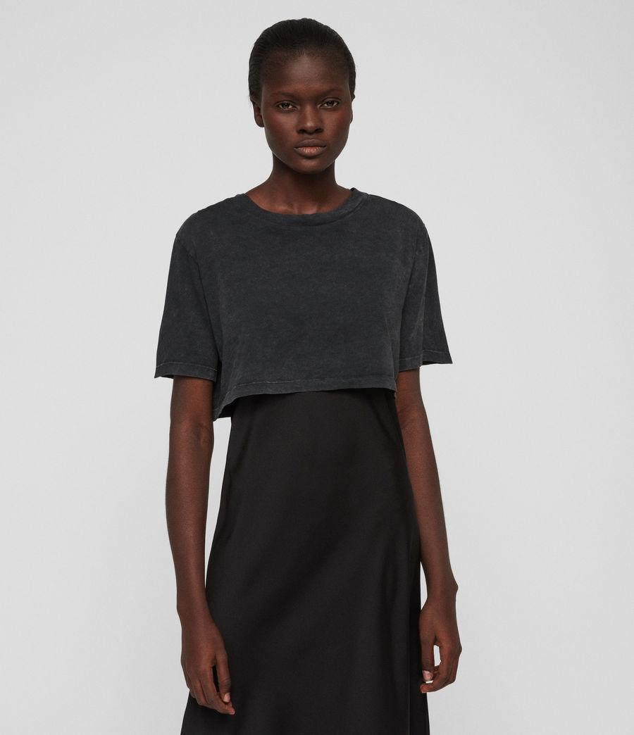 Womens Benno T-Shirt Dress (acid_wash_black) - Image 3