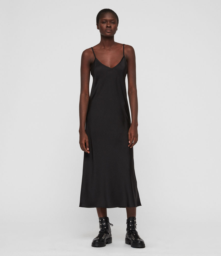 Womens Benno T-Shirt Dress (acid_wash_black) - Image 4