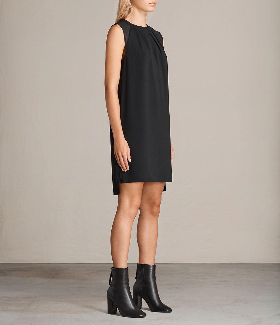 Womens Jay Dress (black) - Image 3