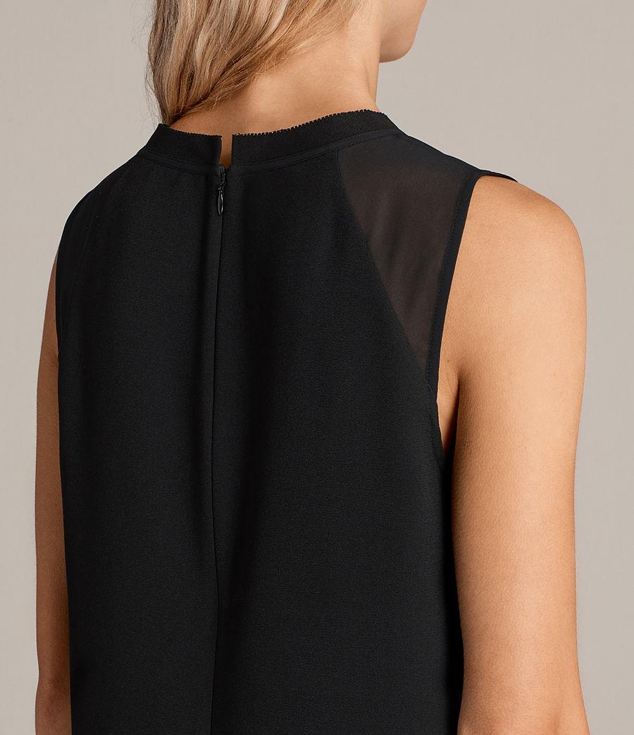 Womens Jay Dress (black) - Image 7