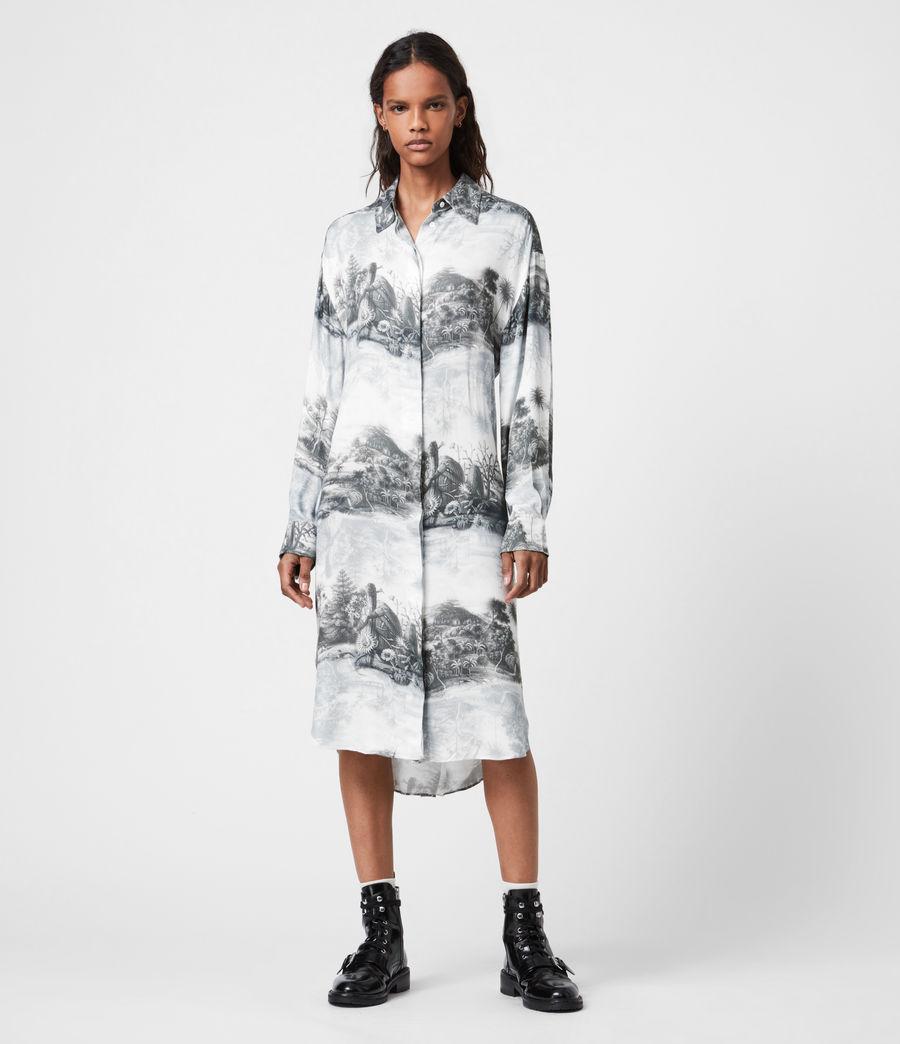 Women's Eleanor Illusio Dress (white) - Image 1