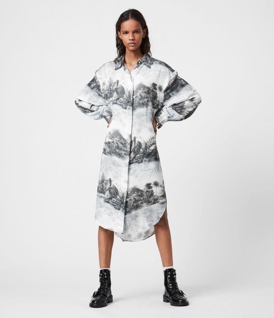 Women's Eleanor Illusio Dress (white) - Image 7
