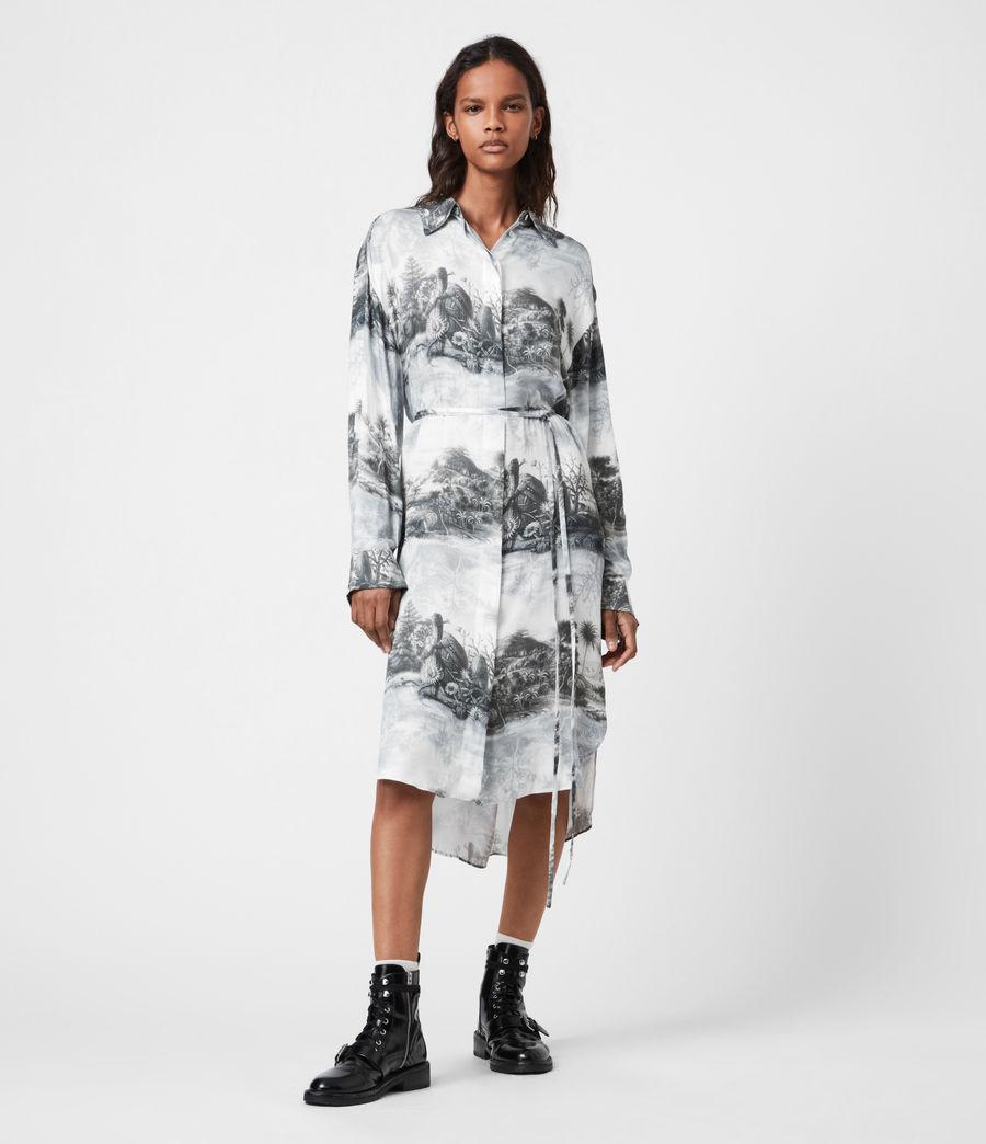 Women's Eleanor Illusio Dress (white) - Image 8