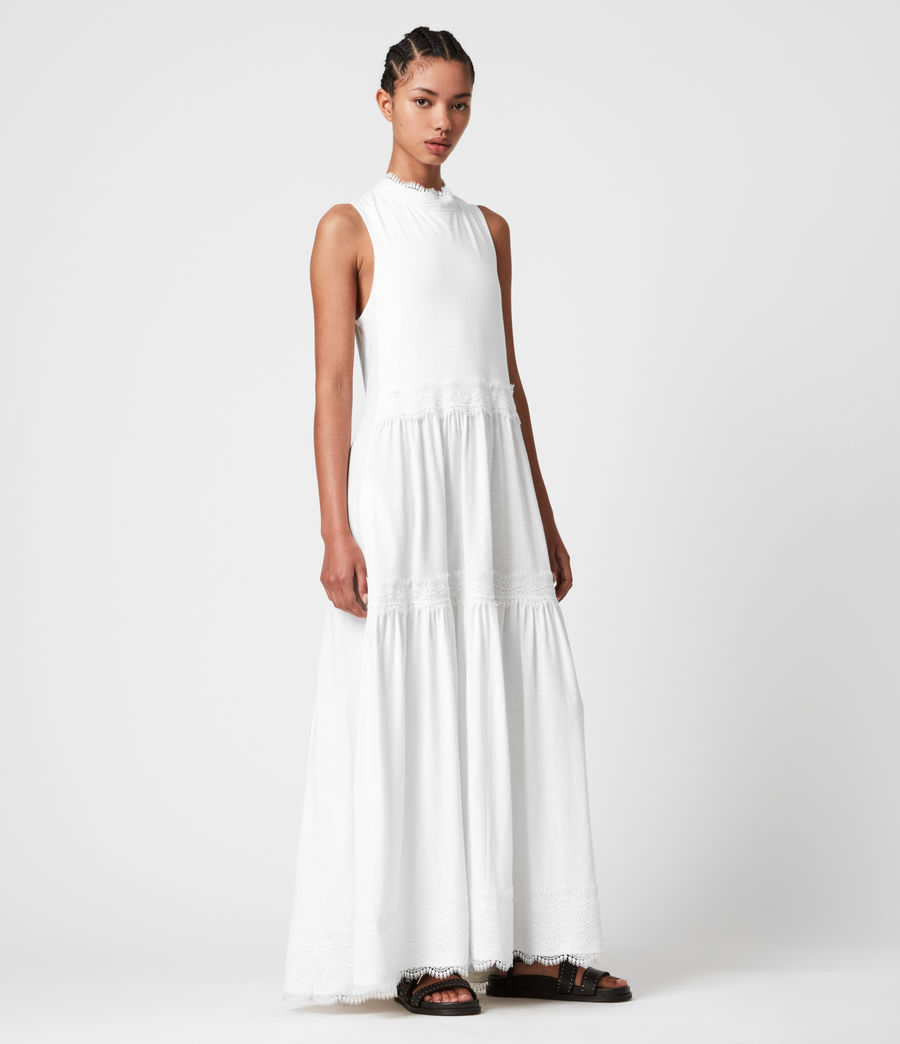 Womens Tier Dress (chalk_white) - Image 1