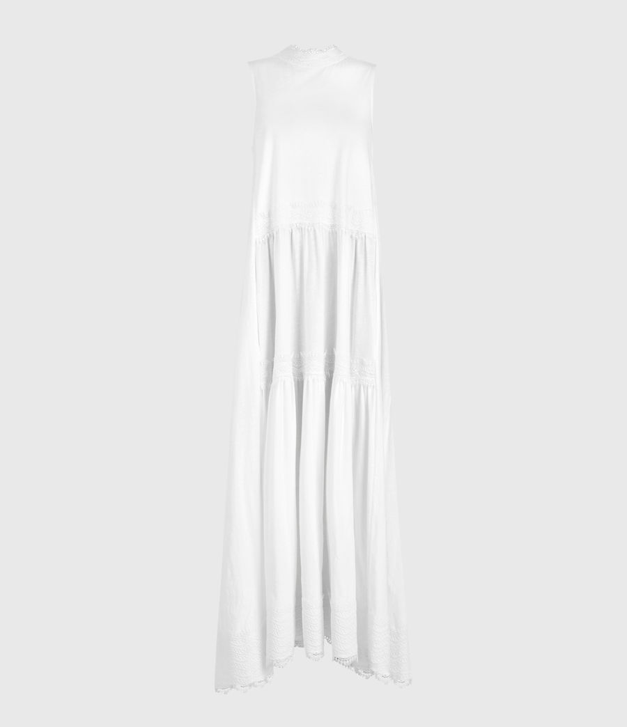 Womens Tier Dress (chalk_white) - Image 2