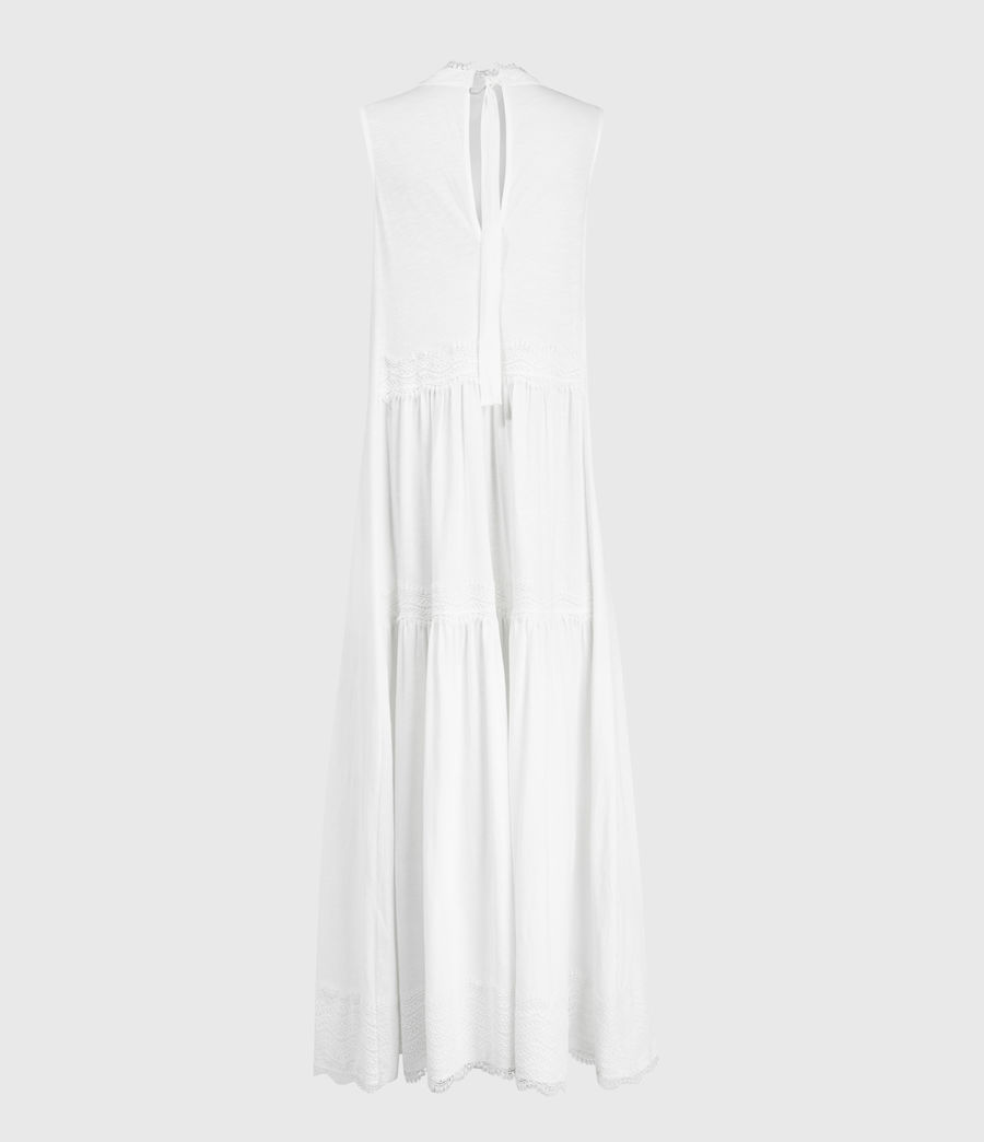 Womens Tier Dress (chalk_white) - Image 3