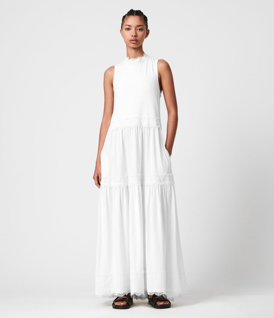 Womens Tier Dress (chalk_white) - Image 4