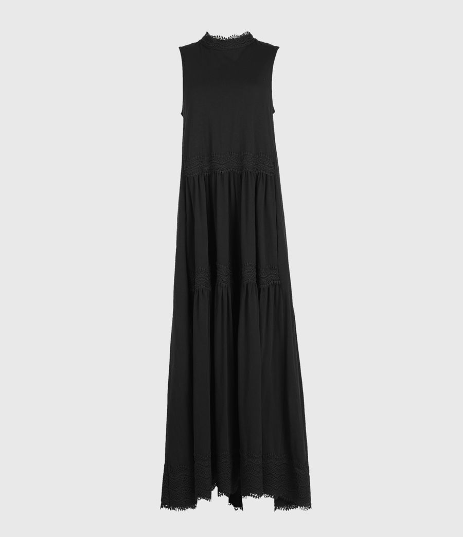 Womens Tier Dress (black) - Image 1