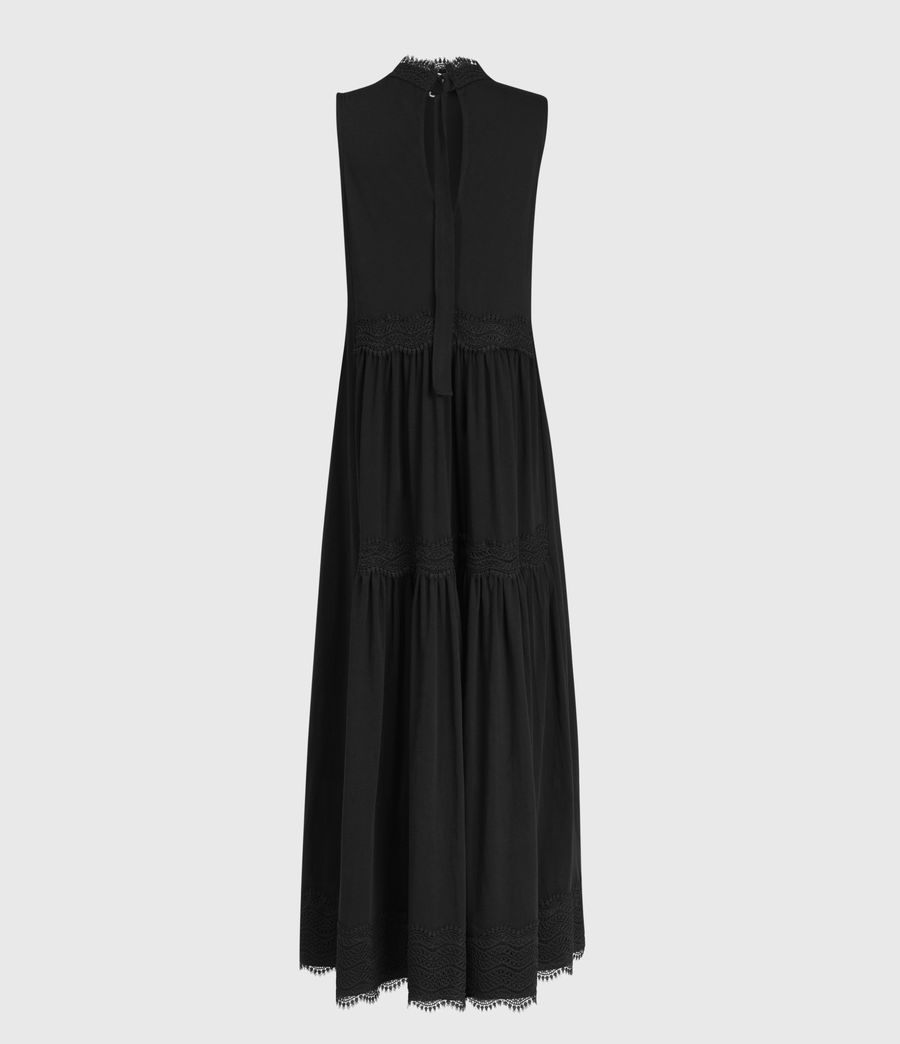Womens Tier Dress (black) - Image 2