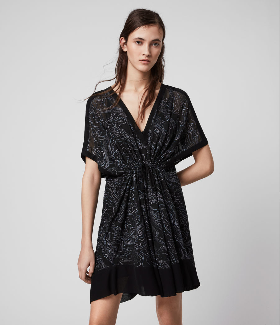 Womens Isme Palmer Dress (oil_black) - Image 1