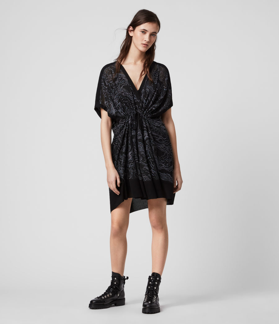 Womens Isme Palmer Dress (oil_black) - Image 3