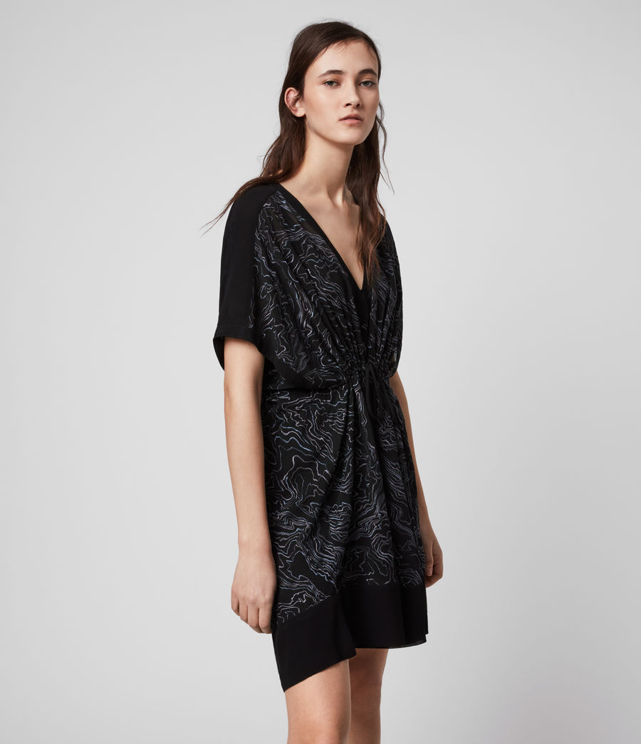 Womens Isme Palmer Dress (oil_black) - Image 4