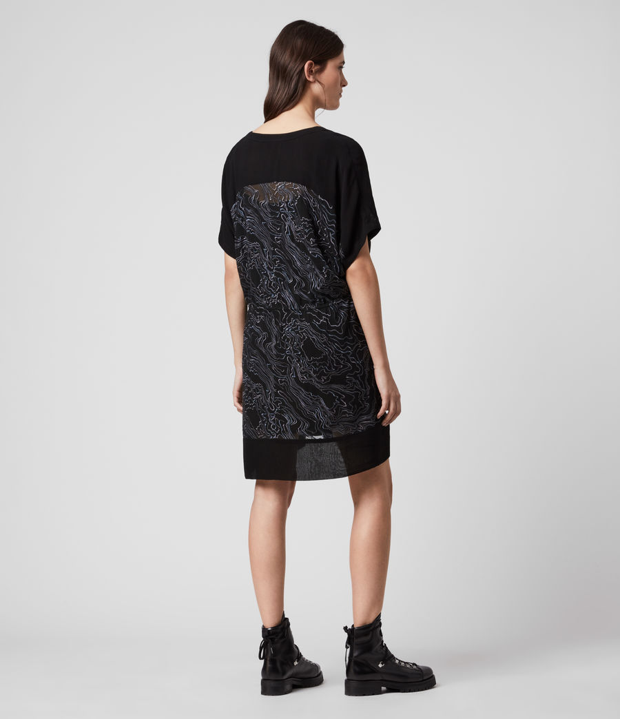 Womens Isme Palmer Dress (oil_black) - Image 5