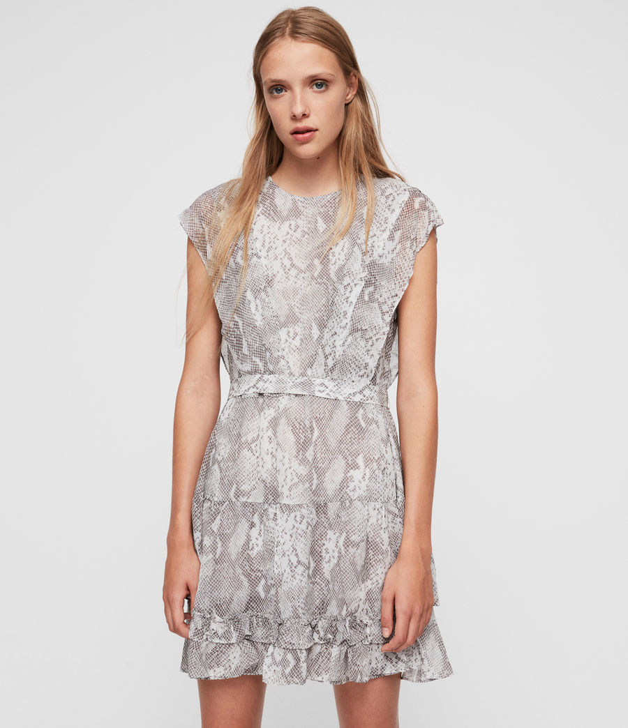 Women's Evely Snake Dress (pale_grey) - Image 1