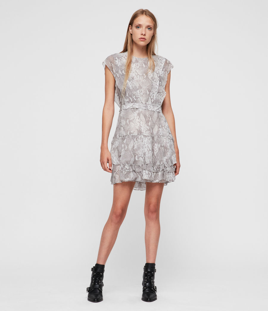 Women's Evely Snake Dress (pale_grey) - Image 2