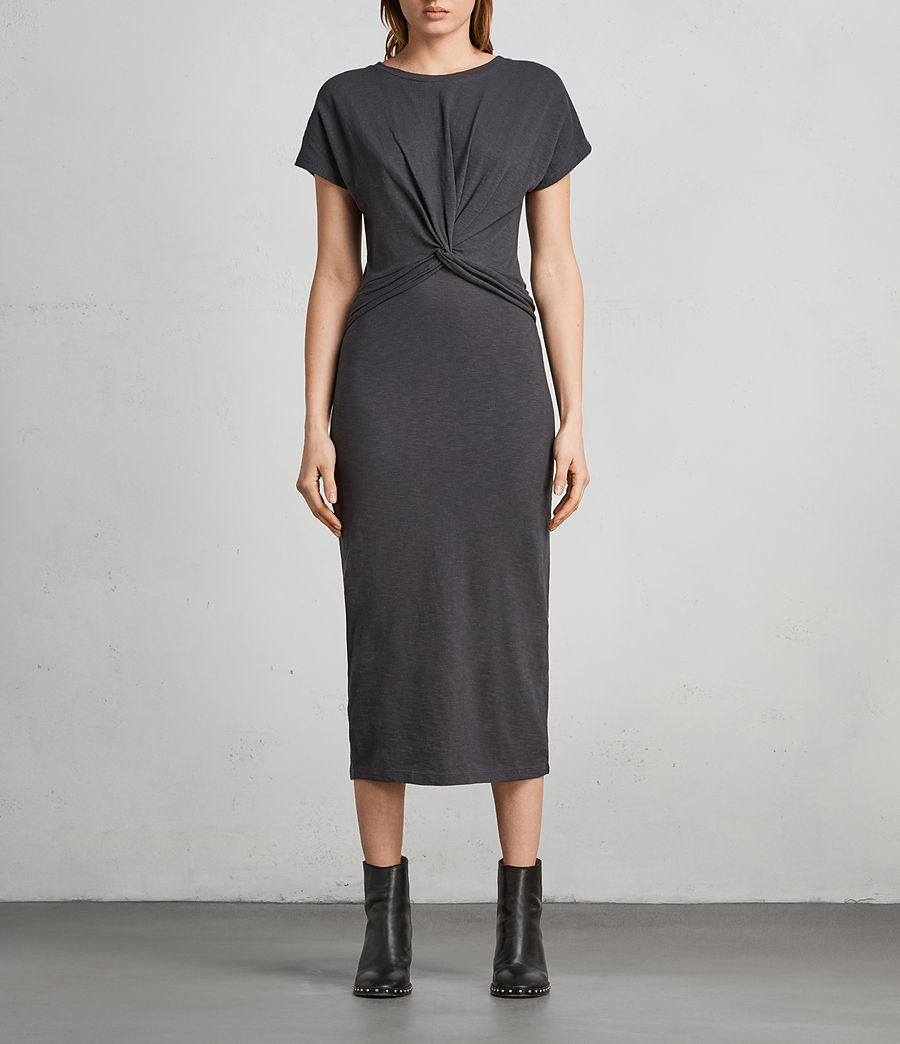 Women's Paloma Long Dress (pirate_black) - Image 1