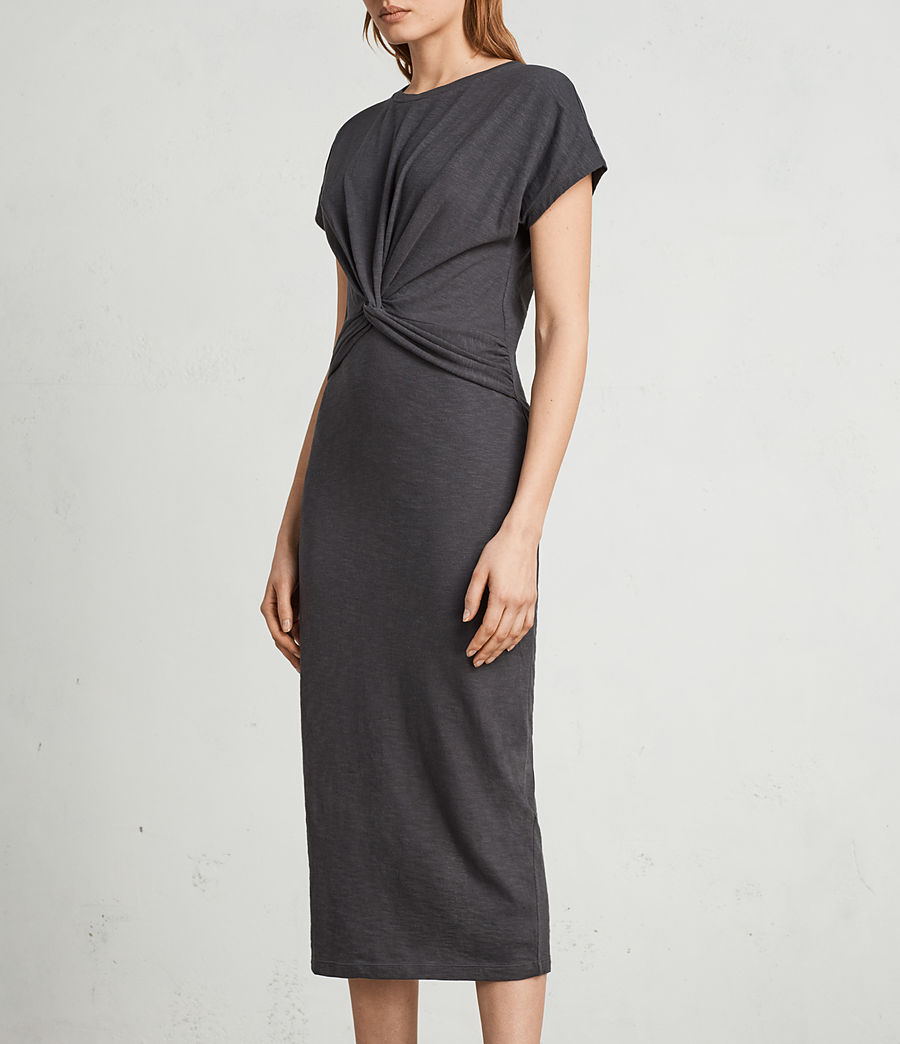 Women's Paloma Long Dress (pirate_black) - Image 3