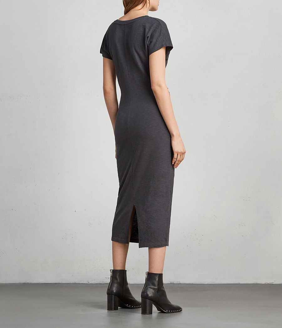 Women's Paloma Long Dress (pirate_black) - Image 4