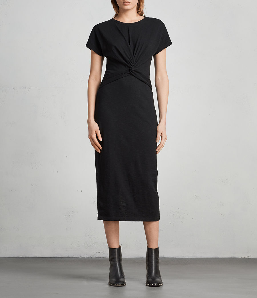 Womens Paloma Long Dress (black) - Image 3