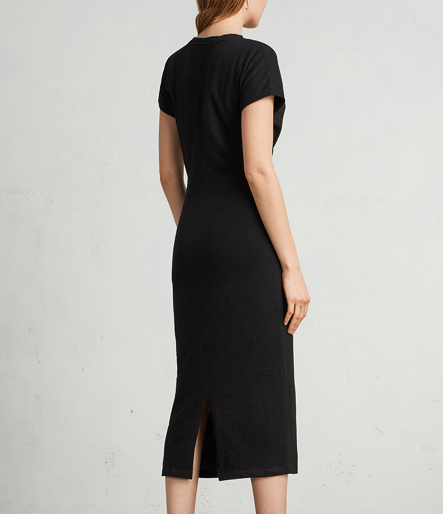 Mujer Vestido largo Paloma (black) - Image 4