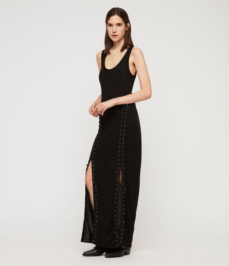Womens Daner Dress (black) - Image 4