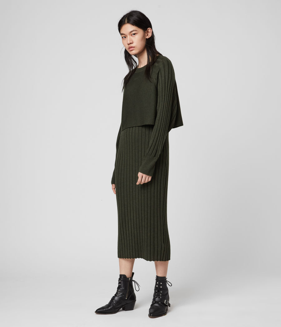 Womens Tarun Dress (military_green) - Image 3