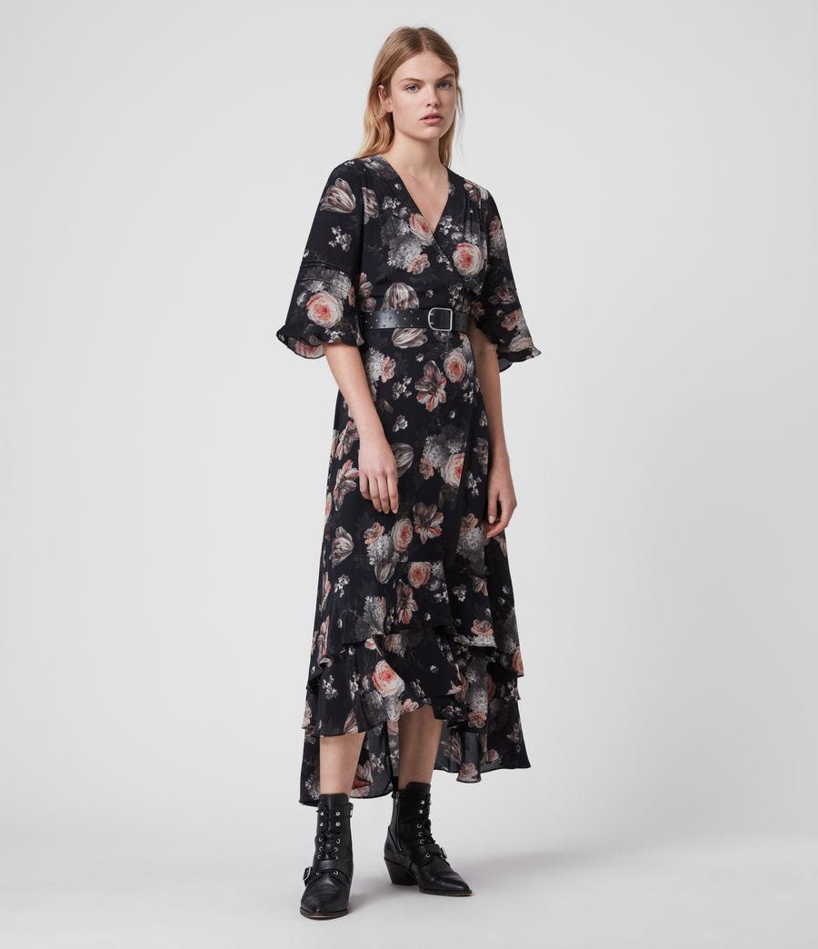 Mujer Vestido Cruzado con Estampado Floral Delana Eden (black) - Image 1