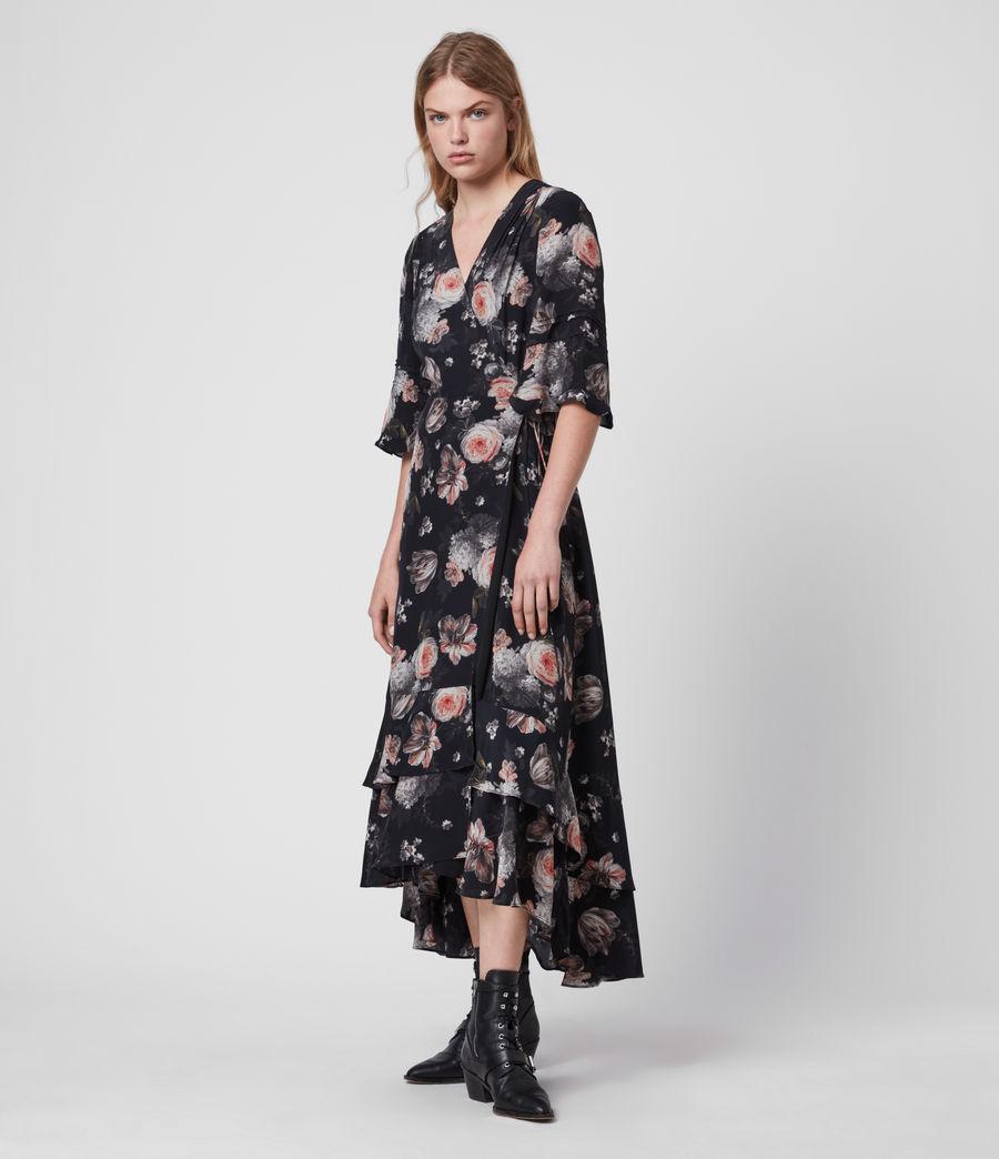 Mujer Vestido Cruzado con Estampado Floral Delana Eden (black) - Image 3