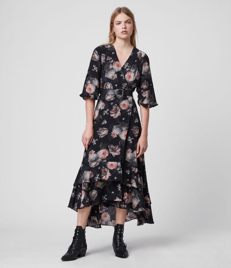 Mujer Vestido Cruzado con Estampado Floral Delana Eden (black) - Image 4