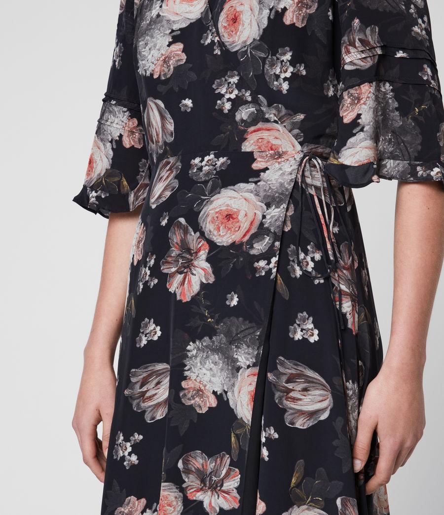 Mujer Vestido Cruzado con Estampado Floral Delana Eden (black) - Image 5