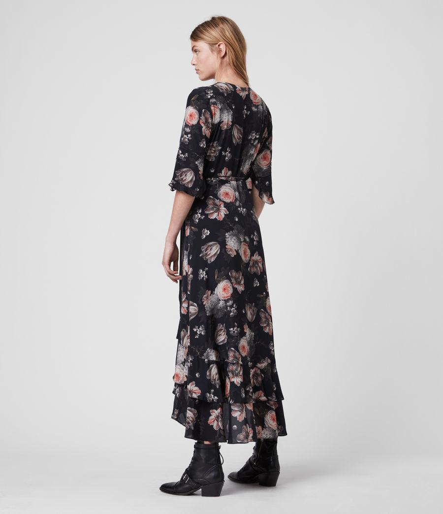 Mujer Vestido Cruzado con Estampado Floral Delana Eden (black) - Image 6