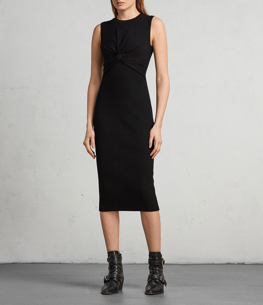 Womens Tyne Dress (black) - Image 1
