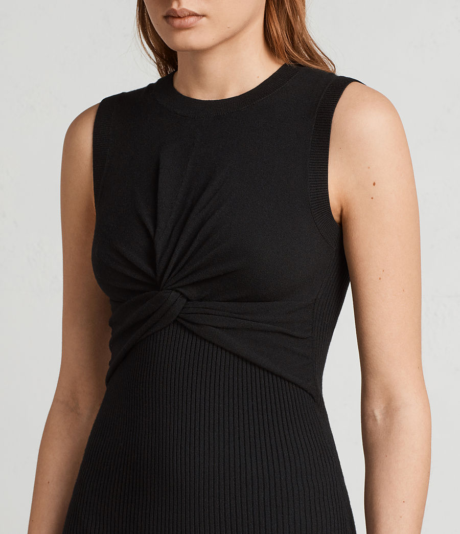 Womens Tyne Dress (black) - Image 2