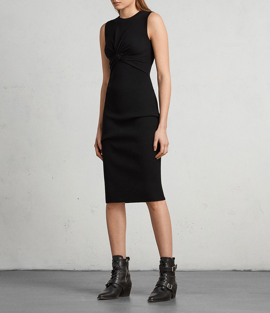 Womens Tyne Dress (black) - Image 3