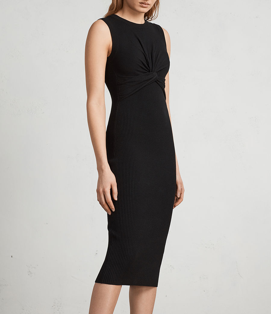Womens Tyne Dress (black) - Image 4