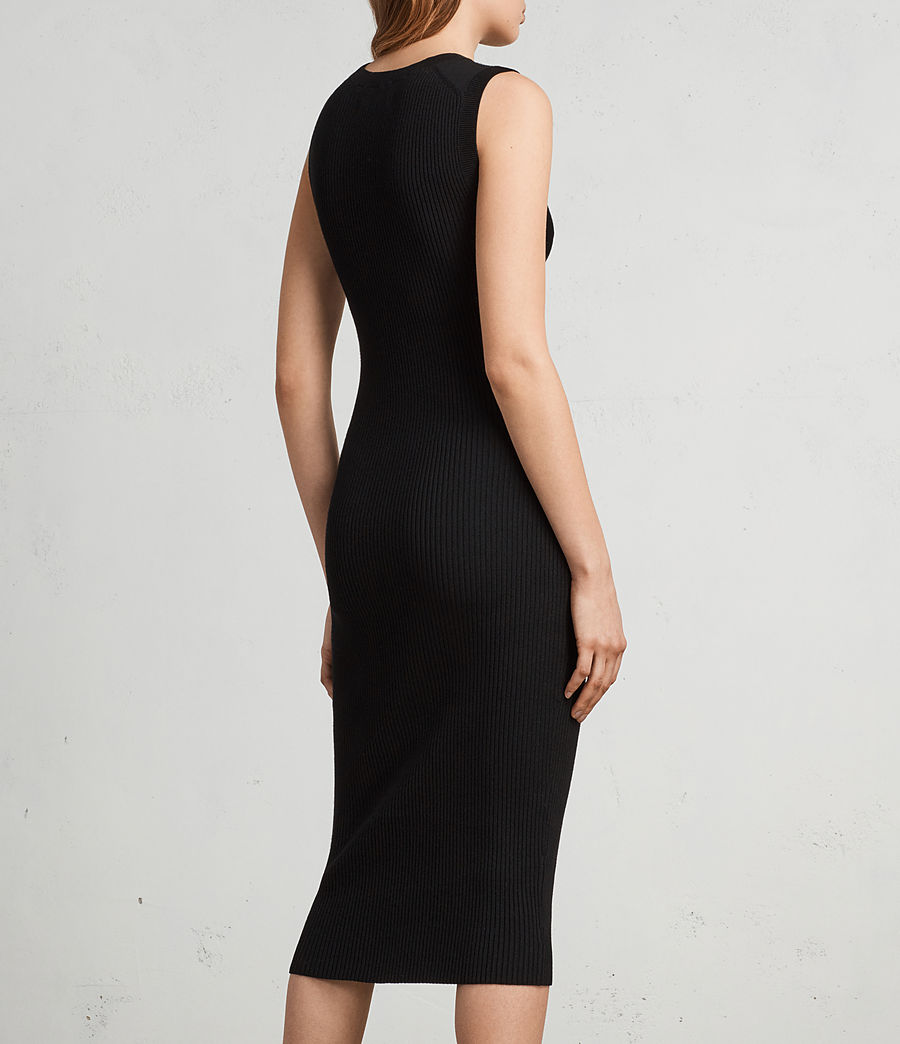 Womens Tyne Dress (black) - Image 5
