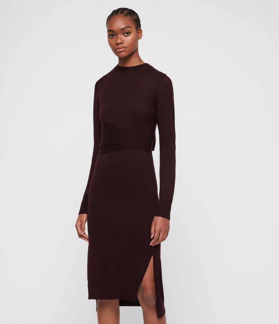 Women's Flora Dress (port_purple) - Image 1