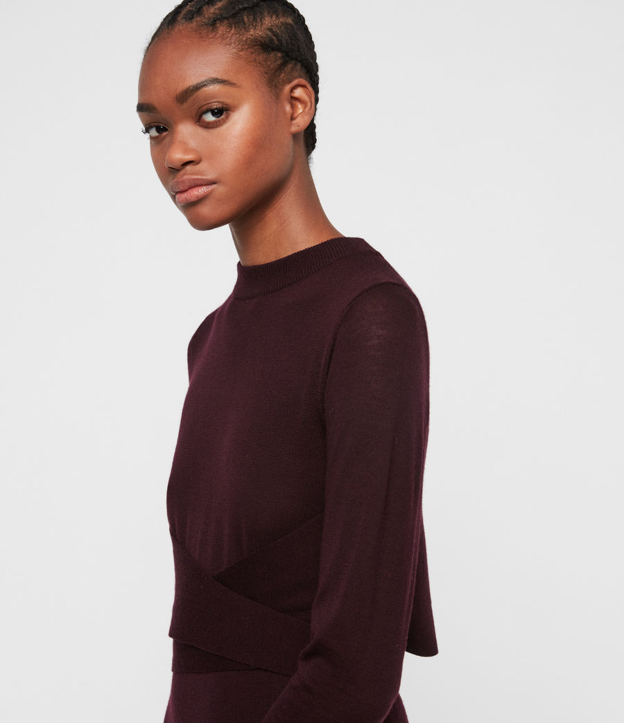 Women's Flora Dress (port_purple) - Image 3