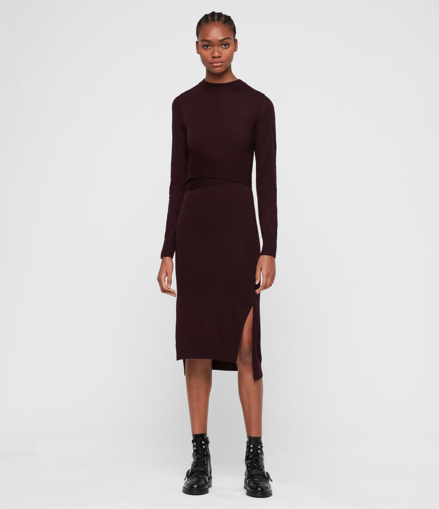 Women's Flora Dress (port_purple) - Image 4