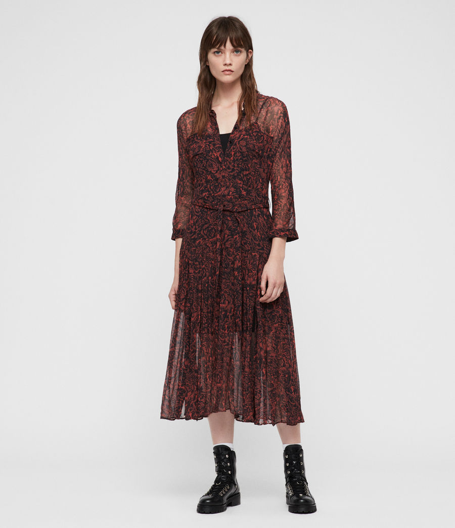 Women's Eley Rosey Dress (berry_red) - Image 1