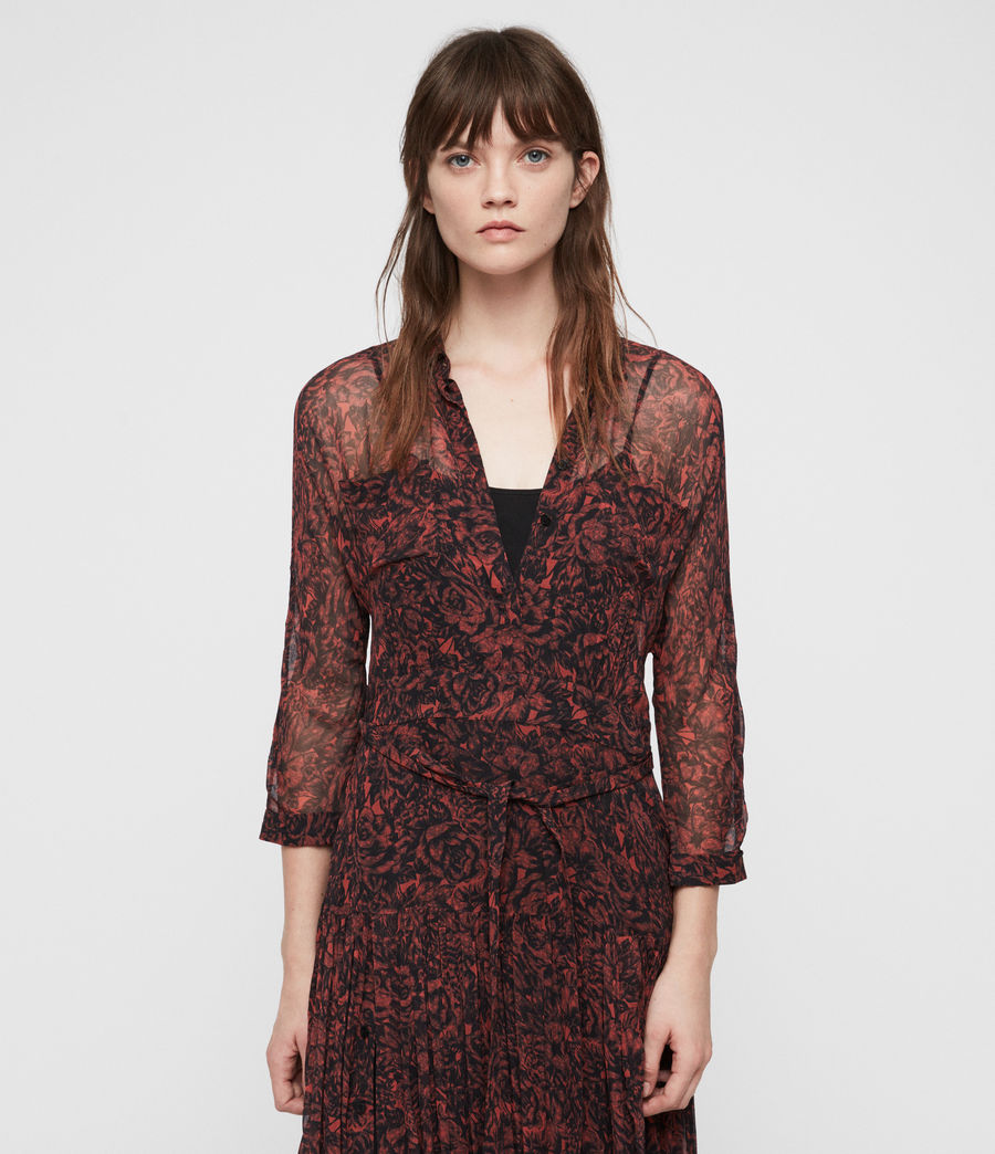 Women's Eley Rosey Dress (berry_red) - Image 2