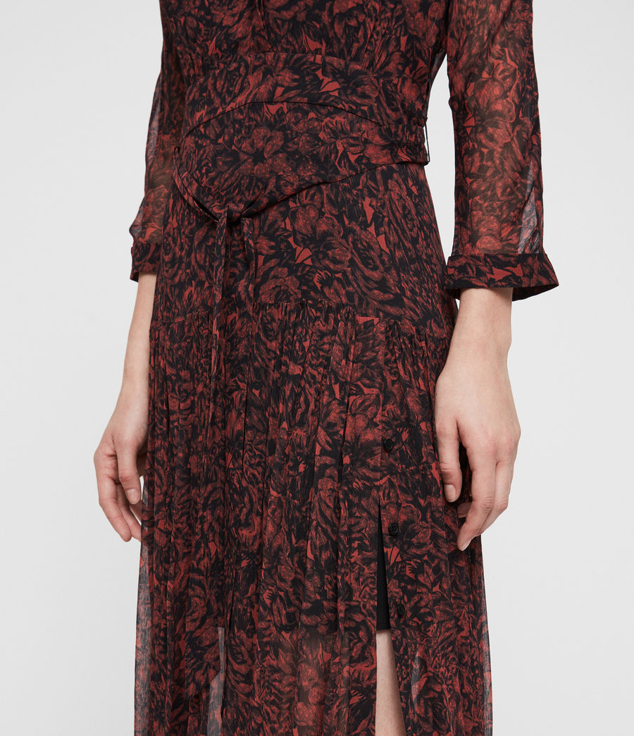 Women's Eley Rosey Dress (berry_red) - Image 3