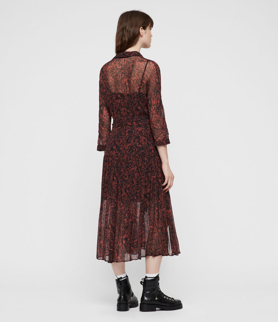 Women's Eley Rosey Dress (berry_red) - Image 6