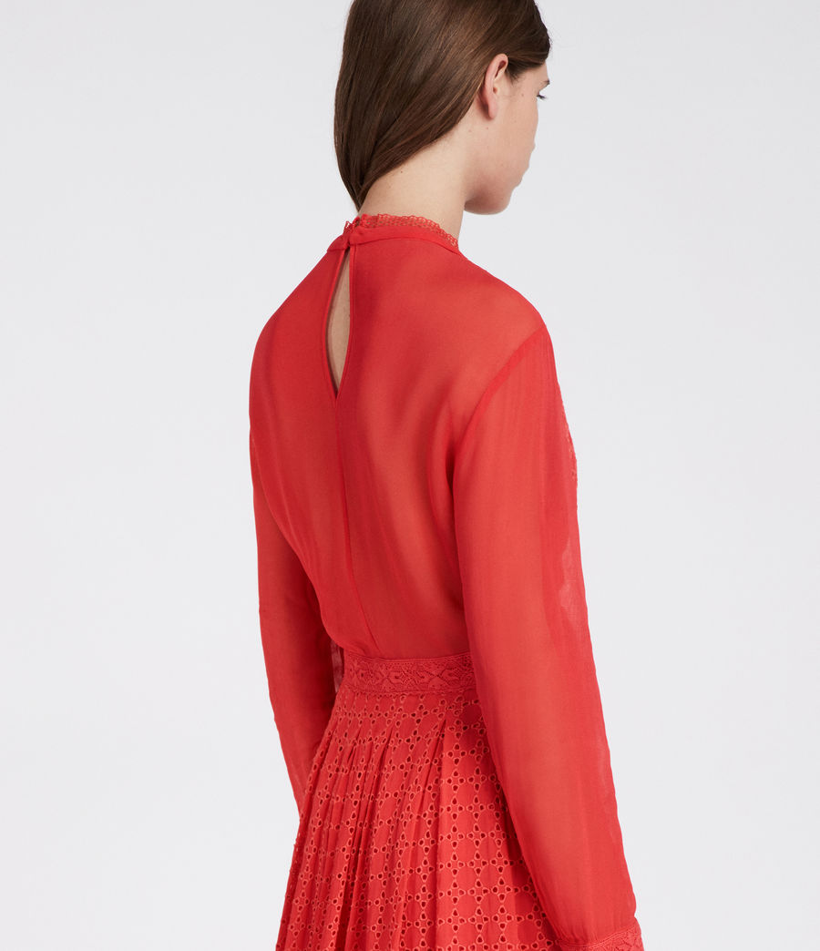 Women's Lilith Dress (coral_red) - Image 3
