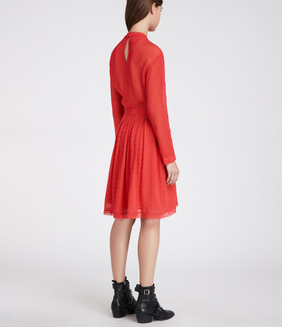 Women's Lilith Dress (coral_red) - Image 5