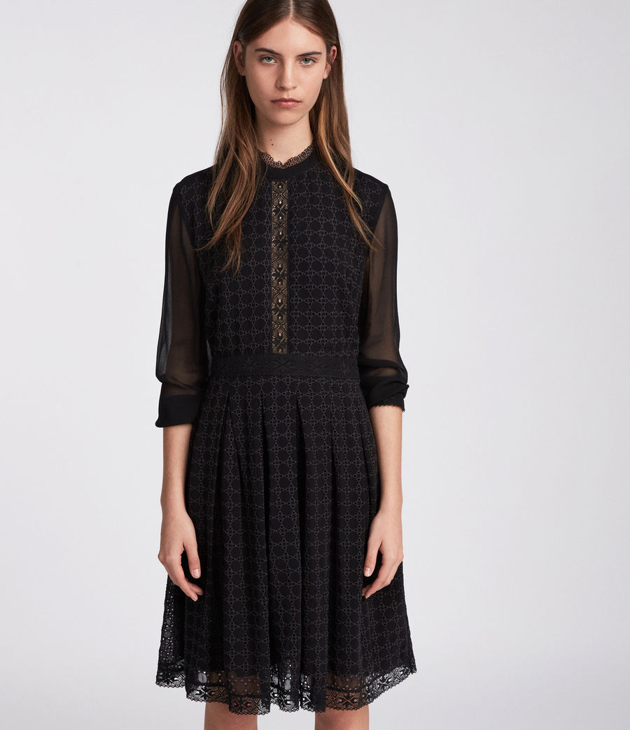 Womens Lilith Dress (black) - Image 3